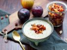 Golden Leinsamen-Pudding mit Pflaumen-Apfel-Topping Rezept