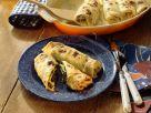 Gratinierte Pfannkuchen mit Spinat gefüllt Rezept