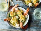 Gratinierte Zucchini-Garnelen-Röllchen Rezept