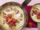 Grießpfannkuchen mit Rhabarber Rezept
