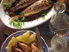 Grillfisch und -Sepien mit Sardellen-Kräuterfüllung Rezept