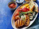 Grillplatte mit Hähnchenbrust und Gemüse Rezept