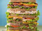 Großes, geschichtetes Sandwich Rezept