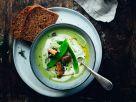 Grüne Gemüsesuppe mit Joghurt Rezept