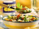 Grüne Minestrone mit Parmesan Rezept