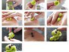 Grüner Frosch aus Marzipan Rezept