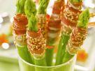 Grüner Spargel mit Speckwickel Rezept