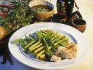 Grüner Spargel mit Viktoriabarsch Rezept
