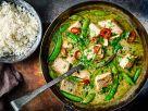 Grünes Fisch-Curry mit Reis Rezept