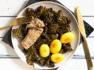 Grünkohl mit vegetarischen Pinkel Rezept