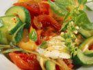 Gurken-Ratatouille mit Mozzarella Rezept