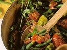 Hackfleisch mit Bohnen und Tomaten Rezept