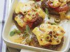 Hacksteaks mit Käse-Tomaten-Haube Rezept