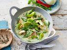 Hähnchen-Curry mit Matcha-Tee und Limette Rezept