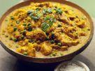 Hähnchen-Erbsen-Curry mit Bananen Rezept