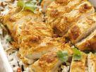 Hähnchen mit Joghurt-Currysoße und Reis Rezept
