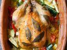Hähnchen mit Lorbeer und Gemüse im Römertopf Rezept