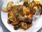 Hähnchen mit Maronen und Äpfeln Rezept
