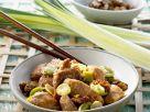 Hähnchen mit Porree und Walnüssen Rezept