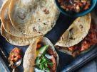 Hähnchen mit Salsa im Tortillafladen Rezept