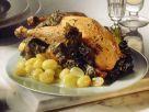 Hähnchen mit Weinsauce und Trauben Rezept