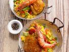 Hähnchen-Paella mit Garnelen Rezept
