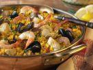 Hähnchen-Paella mit Meeresfrüchten Rezept