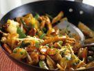 Hähnchen-Pfanne süß-sauer mit Ananas und Gemüse Rezept