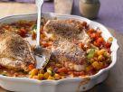 Hähnchenbrust auf buntem Gemüse Rezept