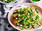 Hähnchenbrust auf Zucchininudeln Rezept