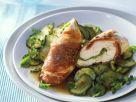 Hähnchenbrust im Schinkenmantel mit Zucchini Rezept