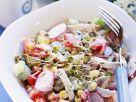Hähnchenbrust mit Gemüsesalat Rezept