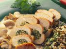 Hähnchenbrust mit Mangoldfüllung und Reis Rezept
