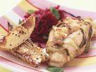 Hähnchenbrust mit Walnüssen gefüllt dazu Sesamkartoffeln Rezept