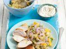 Hähnchenbrust vom Grill mit exotischem Quinoa-Salat Rezept