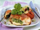 Hähnchenbrustfilet mit Füllung aus Kräuterbutter, Käse und Schinken Rezept