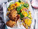 Hähnchenfilet mit Orangen-Mais-Salat Rezept