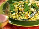 Hähnchenfleisch mit Mais, Papaya und Zucchini Rezept