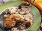 Hähnchenkeule mit Pilzsauce Rezept