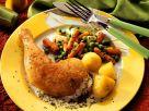 Hähnchenschenkel mit Kartoffeln Rezept