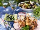 Hähnchenschlegel vom Grill mit Kräuterbutter Rezept