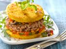 Hamburger mit Polenta-Patties Rezept
