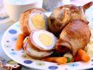 Harte Eier im Schinkenwickel Rezept