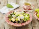 Herbstlicher Käse-Blattsalat Rezept