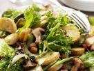 Herbstsalat mit gebratenen Pilzen Rezept
