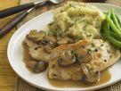Hühnchen mit Kartoffelbrei und Pilzsauce nach indischer Art Rezept