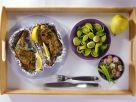 Hühnerkeulen, Radieschen und Birnen Rezept