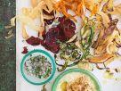 Hummus mit Gemüsechips Rezept