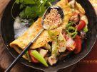 Indisches Omelett mit Gemüsefüllung Rezept