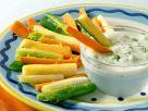 Joghurt-Walnuss-Dip und geschmortes Gemüse Rezept